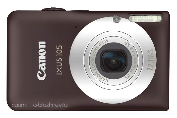 Canon IXUS 105 front brown