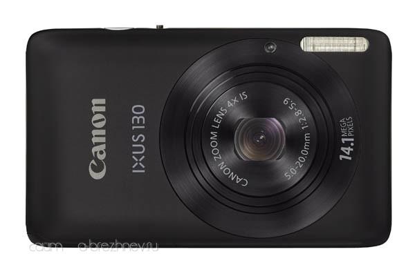 Canon IXUS 130 front black