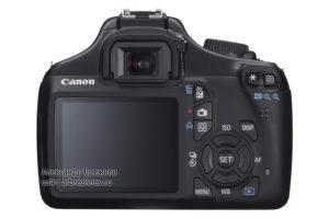Canon EOS 1100D - вид сзади