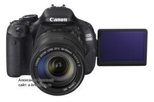 Canon EOS 600D с объективом EF-S 18-135mm IS